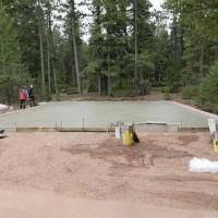 Initial Concrete Installation