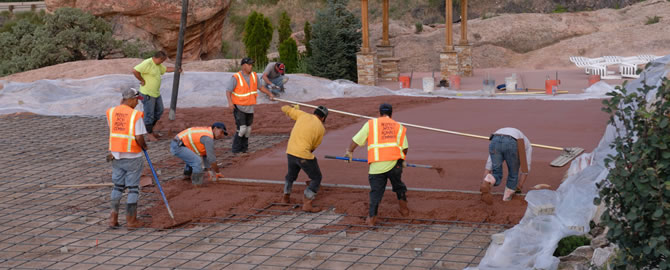 Laying the foundation for concrete work
